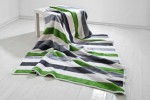 Koc Moca Design150x200 cm Stripes green