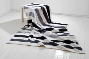 Koc Moca Design 150x200 cm Stripes grey