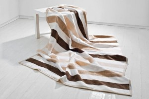 Koc Moca Design 150x200 cm Stripes beige