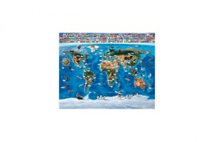 Tapeta dla dzieci 3D Walltastic - Map of the World