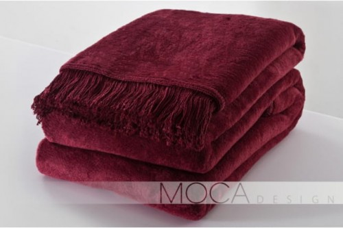 Koc Moca Design bordo 150x200 cm